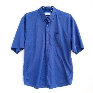Valentino Short Sleeve Striped Button Up Shirt